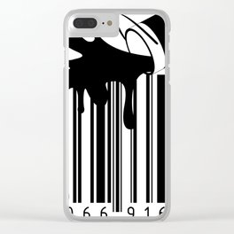 barcode art paint number black Clear iPhone Case