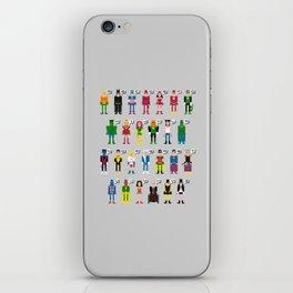Pixel Superhero Alphabet 2 iPhone Skin