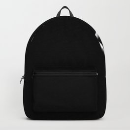 Laced White Ribbon on Black Backpack