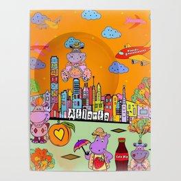 Hippos in Atlanta by Nico Bielow Poster