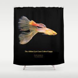 Albino Lyre Lace Cobra Guppy Shower Curtain