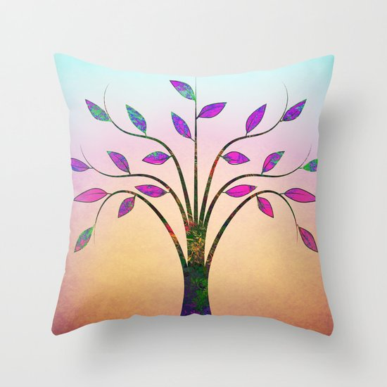 Ornamental Tree Throw Pillow