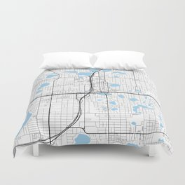 City of Orlando, Florida Duvet Cover