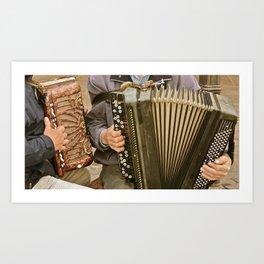 German Street Musicians Art Print