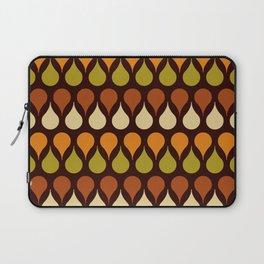 Brown retro 60s color drop pattern Laptop Sleeve