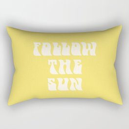 follow the sun - yellow Rectangular Pillow