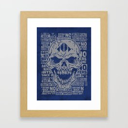 Naysayer Skull Framed Art Print