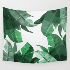 Tropical Palm Print Wall Tapestry