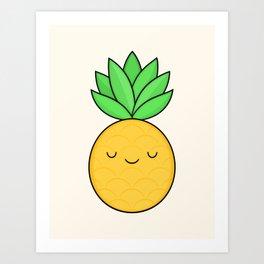 Happy Pineapple Art Print