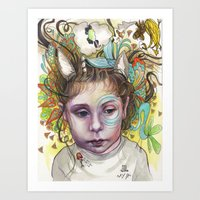 creativity Art Prints featuring Creativity by busymockingbird