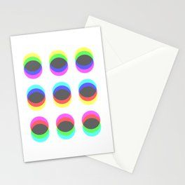 CMYK in RGB Circles Stationery Cards