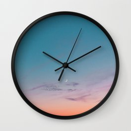 Crescent Wall Clock