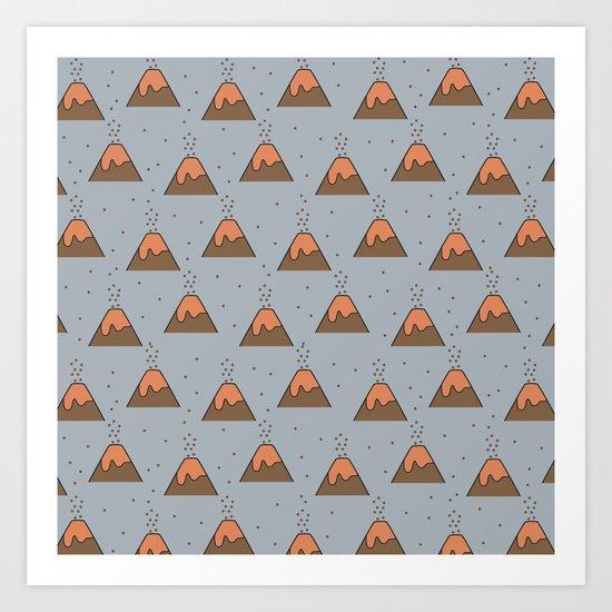 Volcano Pattern #2 Art Print