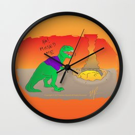 More Dinosaur, Less Meteor Wall Clock