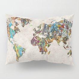 World Map 28 Pillow Sham