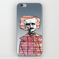 poe iPhone & iPod Skins featuring Poe by dvhstudios