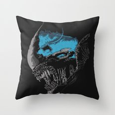 On A Dark Moon. Throw Pillow