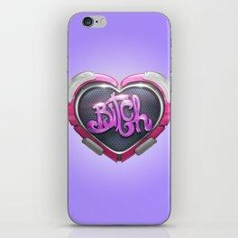 Techno Cyber Heart Bitch iPhone Skin