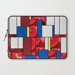 Mottled Red Poinsettia 2 Art Rectangles 4 Laptop Sleeve