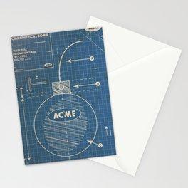 Acme Spherical Bomb vintage Blueprint Stationery Cards