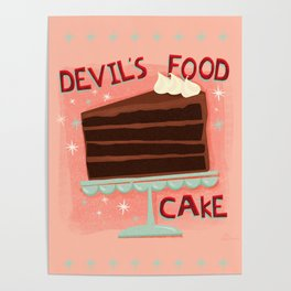 Devil's Food Cake An All American Classic Dessert Poster