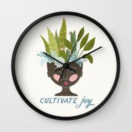 Cultivate Joy Wall Clock
