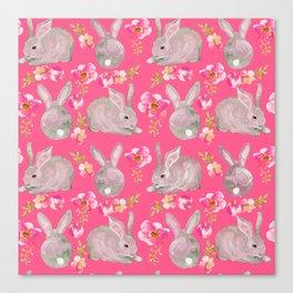 Pink bunnies Canvas Print
