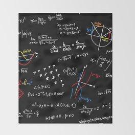 math blackboard Throw Blanket