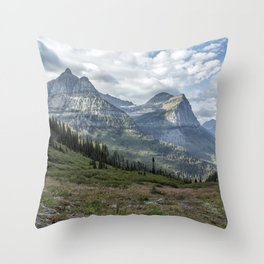 Catching a View from Going to the Sun Road Throw Pillow