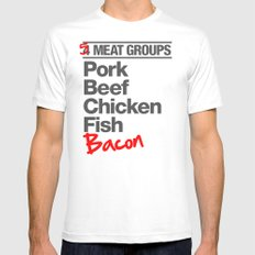 5 Major Meat Groups MEDIUM White Mens Fitted Tee