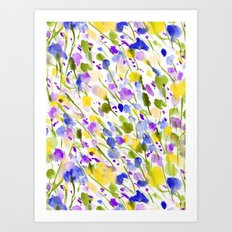 Wild Nature (Yellow and Blue) Art Print