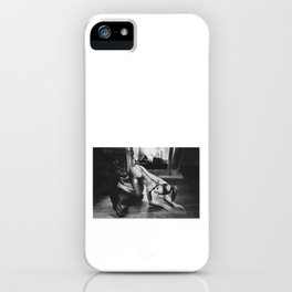 Photograph My slave girl in black and white iPhone Case