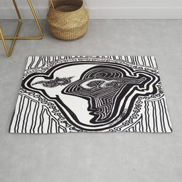 Face with Small Dancing Dog Bones Rug