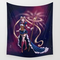 soldier Wall Tapestries featuring Steampunk Pretty Soldier by Brianna