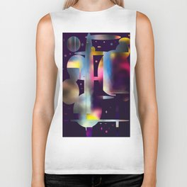 60s Mod Spaceship Abstract Biker Tank