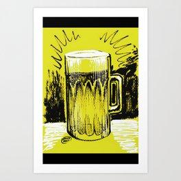 Beer_Yellow Art Print