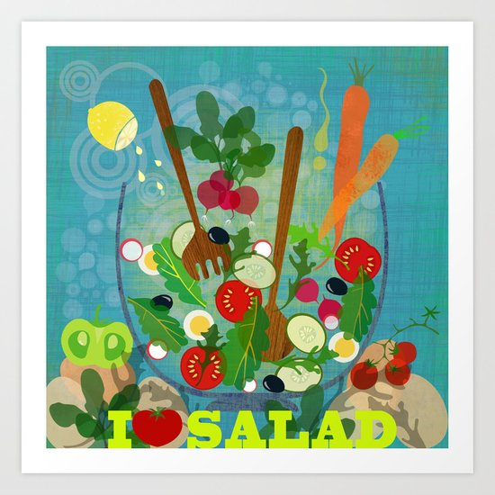 I love Salad Art Print