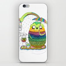 Adventure time Totoro by Luna Portnoi iPhone & iPod Skin