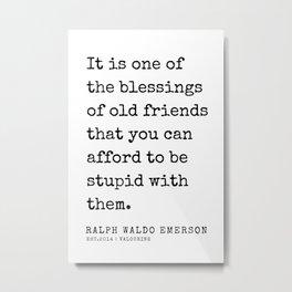 3   | Ralph Waldo Emerson Quotes | 200727 Metal Print
