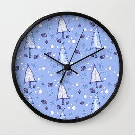Blizzard Blues II Wall Clock