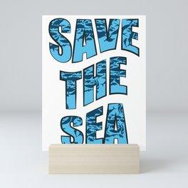 Save the Sea Mini Art Print