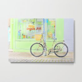 Chocolate Cafe colour Metal Print