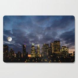 Skyline Cloudy Sunset Cutting Board