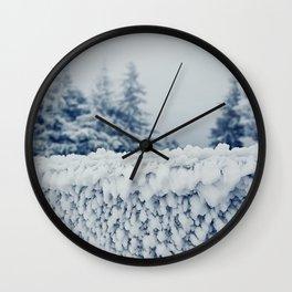 frosty fence Wall Clock