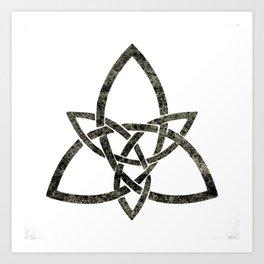 Rustic Celtic Knot Art Print