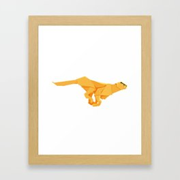 Origami Cheetah Framed Art Print