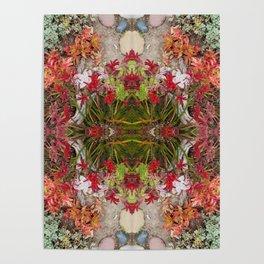 Queen Mardi Gras of the Garden (Mandala-esque #187aa) Poster
