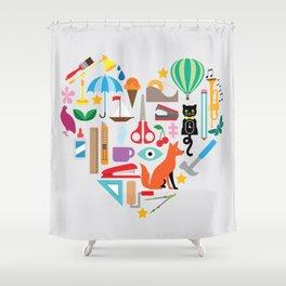 Heart It Shower Curtain