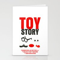 toy story Stationery Cards featuring Toy Story Movie Poster by FunnyFaceArt