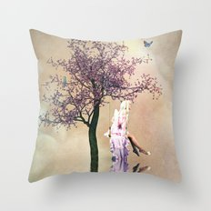 Blossom Angel Throw Pillow